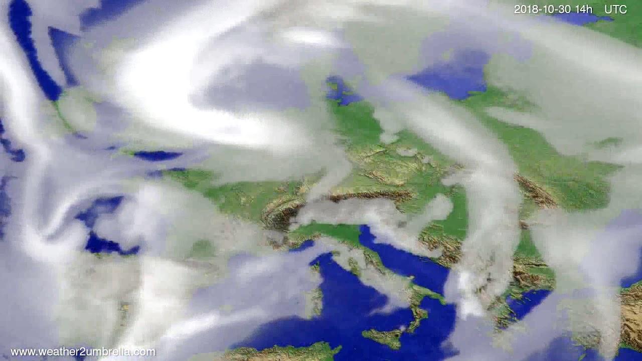 Cloud forecast Europe 2018-10-26