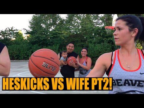 HESKICKS VS WIFE PART 2! (1 on 1 Basketball) (видео)