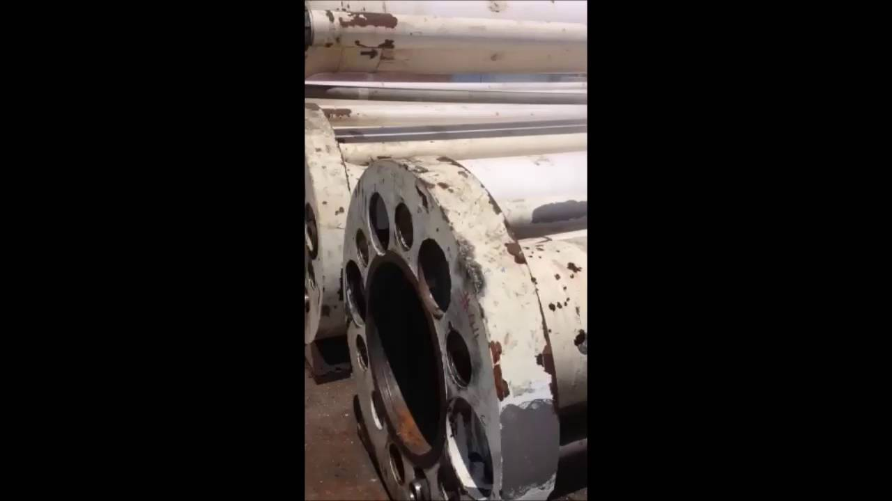 Removal of paint outside drill pipes - 1500 bar+Ultra Impact Nozzle