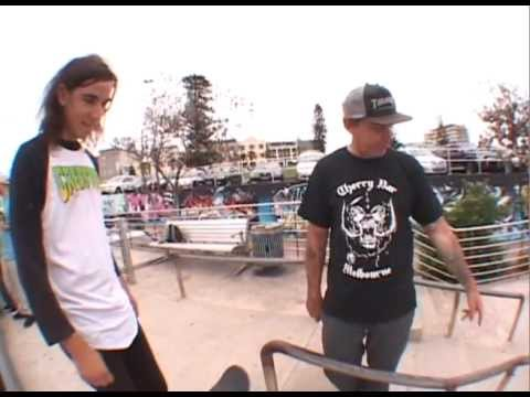 ryan reyes - Ryan Reyes shreds the paradise that is the Bondi Beach skatepark for a $35 and a Six Pack from Independent Trucks.
