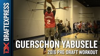 Guerschon Yabusele 2016 CAA Pro Day Workout Video