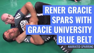 Download Video Rener Gracie Spars with Gracie University Blue Belt (Fully Narrated) MP3 3GP MP4