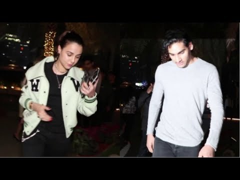 Suniel Shetty's Son Aahan Shetty With Girlfriend Tania Shroff, Diana Penty Spotted At Yauatacha