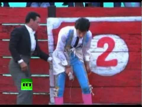 Bull Win: Matador rips pants during bullfight in Colombia