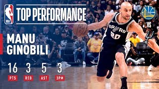 Manu Ginobili Keeps San Antonio's Season Alive as Spurs Win Game 4 by NBA