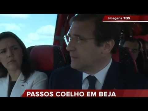 PASSOS COELHO FOI CONHECER A REGA DE ALQUEVA DE AUTOCARRO