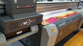 High Printing Speed Caiyi UV Flatbed Printer CY-UV2513 with Gen6 youtube video