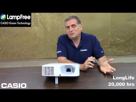 Wayne Borg talks about the benefits of Casio's Long Life LampFree Projectors.