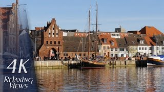 Wismar Germany  city images : 4K Ultra HD Relaxing Video: Wismar, Germany - Old Harbor, Old Town, Old Ships, Storehouses