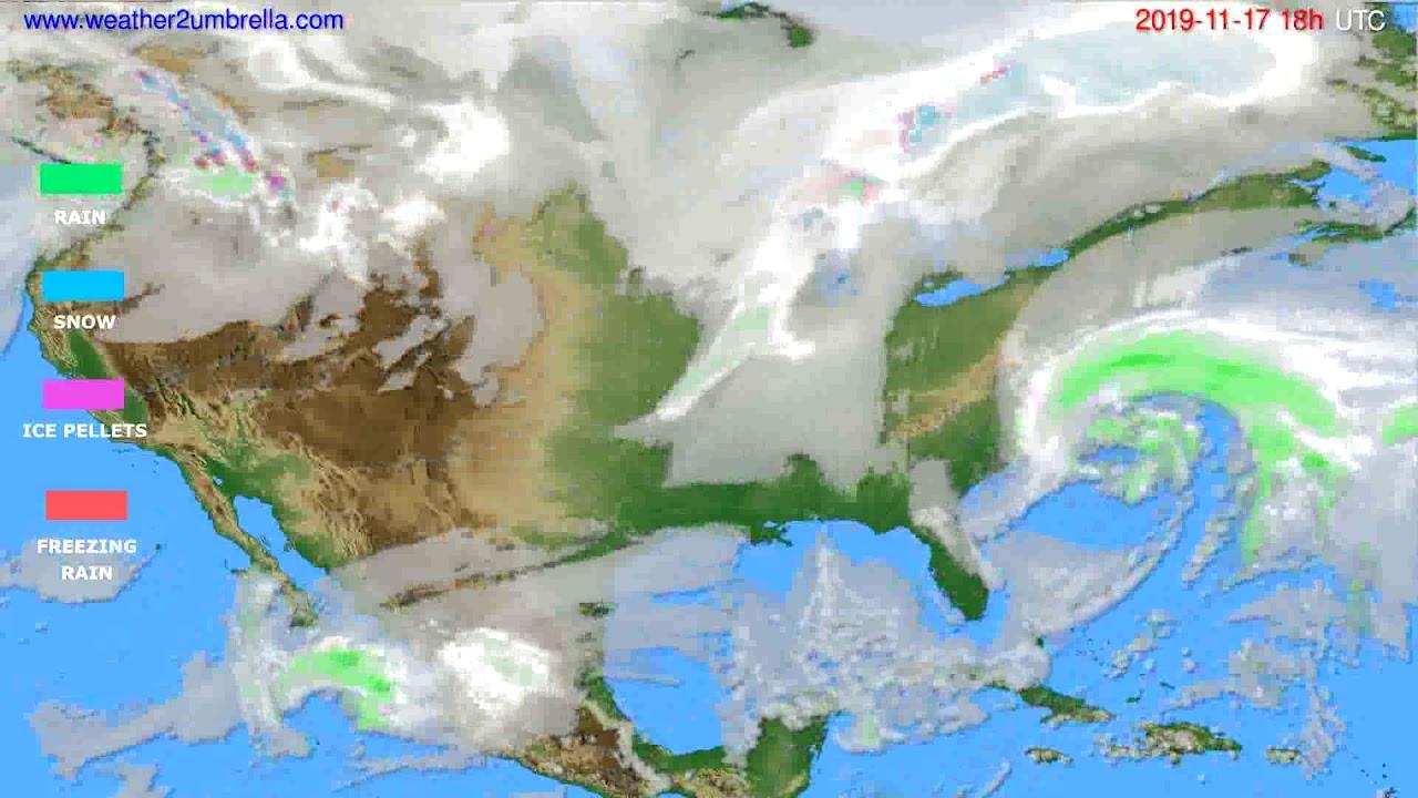Precipitation forecast USA & Canada // modelrun: 12h UTC 2019-11-15