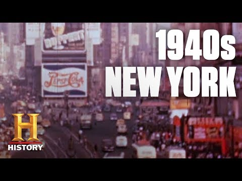 Download A Tour of 1940s New York City | Flashback | History HD Mp4 3GP Video and MP3