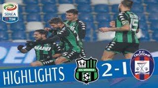 Sassuolo-Crotone 2-1, gli highlights del match