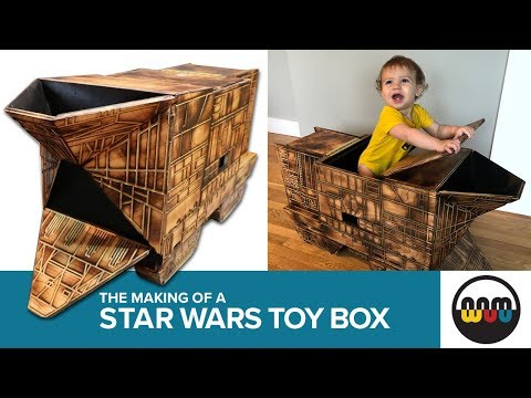 Dad Builds Star Wars Sandcrawler Toy Box for His