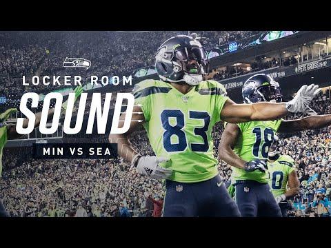 Seahawks Dance to New Edition vs Vikings   Locker Room Sound