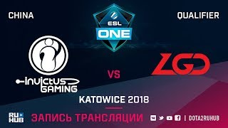 Invictus Gaming vs LGD, ESL One Katowice CN, game 1 [Lex, 4ce]
