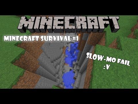 Minecraft Оцеляване С.1 Еп.1 - Slow-mo Fail