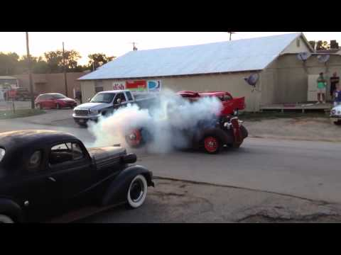 1937 Chevy Rat Rod with Cummins Diesel Burnout