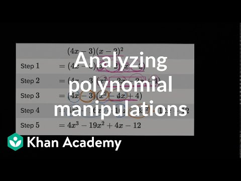 Analyzing Polynomial Identities Video Khan Academy