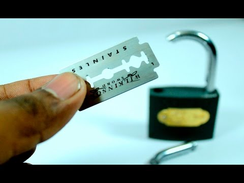 how to open a lock without a key easy || 2 simple lock Life Hacks anyone can do it