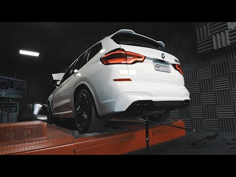 SSR Performance X3M / X4M S58 Competition Downpipes VS Stock Sounds + Dyno (Revs and Fly by)