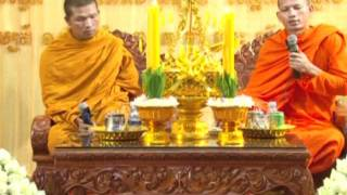 Khmer Culture -  Two seats Dharma Talk at Bun Kathina.mp4