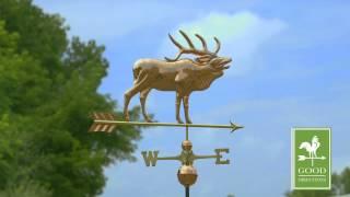 Elk Weathervane - Polished Copper - Good Directions