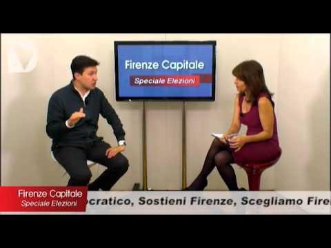 Il candidato a sindaco di Firenze Dario Nardella ospite di FIRENZE CAPITALE Speciale elezioni, condotto da Elisabetta Matini.