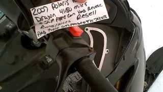 3. SOLD 2007 Polaris Dragon RMK IQ 600 155 Paddle Track
