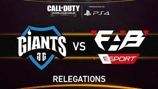 GIANTS Gaming vs FABE eSports - CWL - Relegation