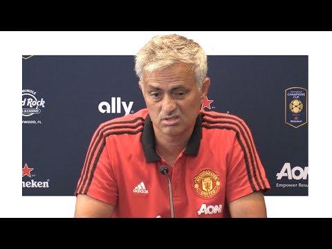 Jose Mourinho Pre-Match Press Conference - Barcelona v Manchester United - Man United Tour 2017 (видео)