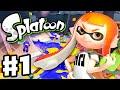 Splatoon Gameplay Walkthrough Part 1 Intro Multiplayer