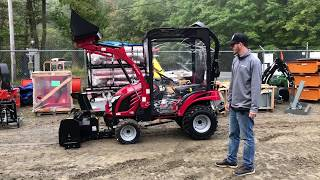 6. Mahindra Emax 20s HST Tractor w/ Front Snowblower - Soft vs. Glass Cab
