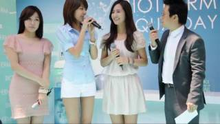 [Fancam] 100501 Tiffany ,Yuri, Sooyoung SNSD@Biotherm Aqua Signing Event [1]