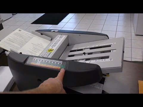 Technical Help Martin Yale Model 1611 doing a half fold