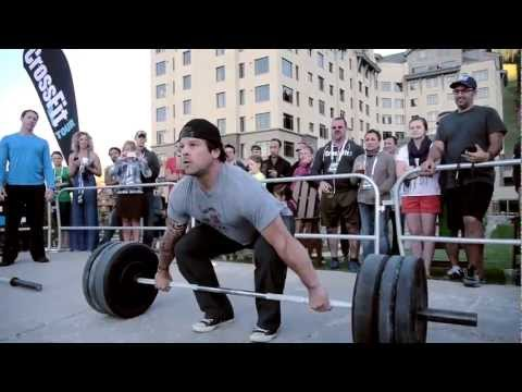 crossfit - Rich Froning and Dan Bailey snatch and clean and jerk during a throwdown at the CrossFit Tour Big Sky Event in Montana. Froning's 290 kg total would qualify ...