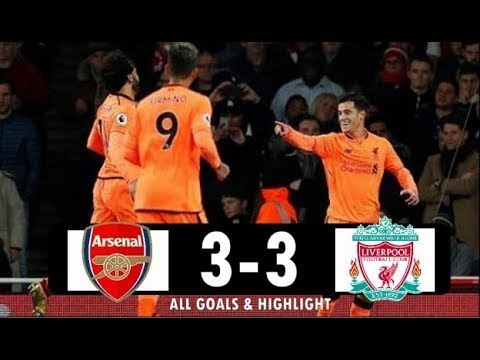 Arsenal vs Liverpool FC 3-3 All Goals & Highlight Extended (EPL) 2017,18