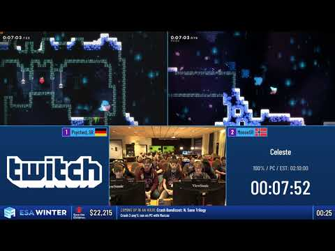 #ESAWinter19 Speedruns - Celeste [100%] by Swesie, Psyched_SR, Blueye95 and MooseSR