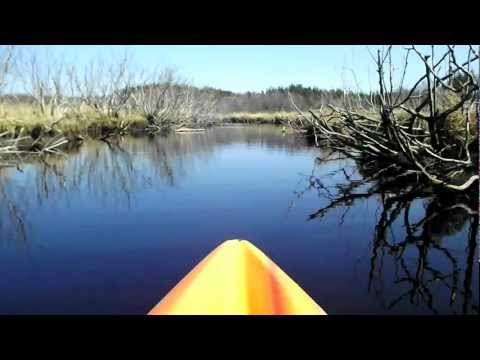 3D VIDEO - Flatwater Kayaking on Meteghan River, Nova Scotia