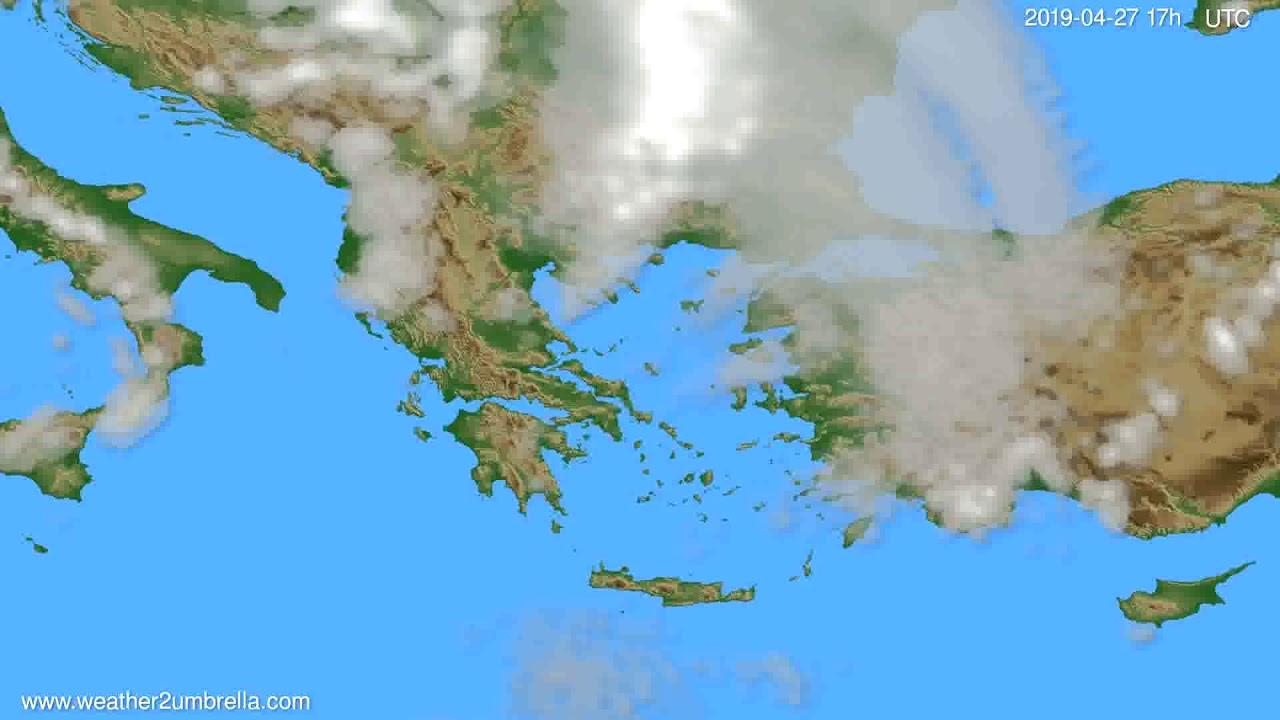 Cloud forecast Greece // modelrun: 00h UTC 2019-04-26