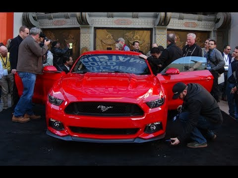 Ford - http://www.TFLcar.com ) Watch the 2015 Ford Mustang GT Unveiled in Hollywood. The 2015 Ford Mustang GT is all new and ready to take on the world. The big n...