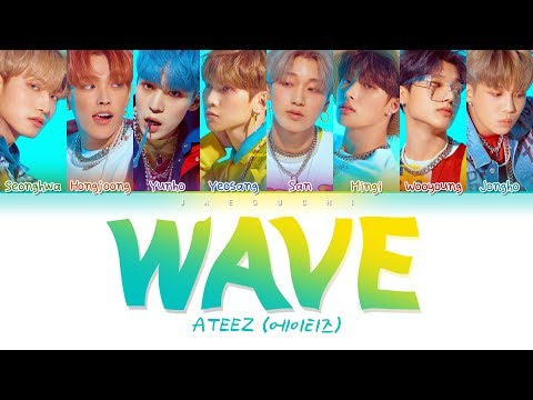 ATEEZ (에이티즈) - WAVE (Color Coded Lyrics Eng/Rom/Han/가사)