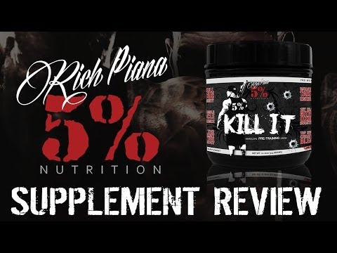 Rich Piana 5% Nutrition KILL IT Supplement Review & Taste Test – RATED #1 PREWORKOUT