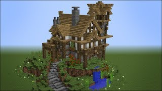 Building the Best Rustic Medieval House in Minecraft - Best minecraft house ever
