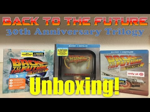 Back To The Future 30th Anniversary Trilogy Blu Ray Set | UNBOXING !!!