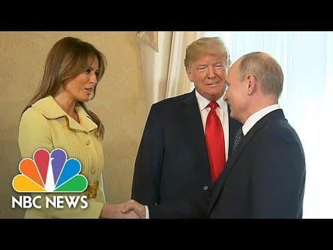 President Trump Introduces First Lady Melania To Vladimir Putin At Helsinki Summit | NBC News