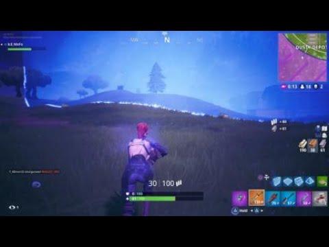 Fortnite running sniper shot