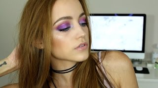 Iridescent Purple & Blue Glitter | Makeup Tutorial by Kathleen Lights