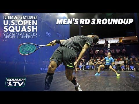 Squash: Men's Rd 3 Roundup Pt. 2 - US Open 2018