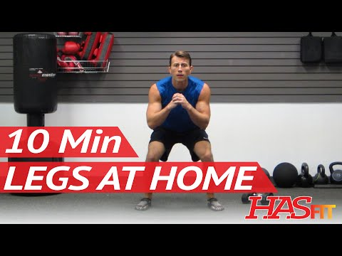 HASfit 10 Minute Leg Workout Exercises – Best Legs Exercises at Home – Work Out for Women and Men