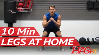 HASfit 10 Minute Leg Workout Exercises - Best Legs Exercises At Home - Work Out For Women And Men